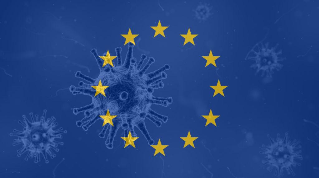 Bandera Europa coronavirus